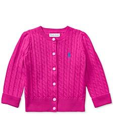 Ralph Lauren Baby Girls Mini-Cable Cotton Cardigan