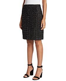Tweed Dot-Print Skirt