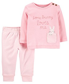 Baby Girls Easter Outfit Set, 2 Pieces