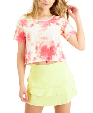 Tie-Dyed Cropped T-Shirt