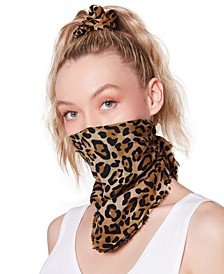 Cotton Leopard-Print Bandana & Scrunchie Set
