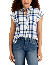 Petite Camp Shirt, Created for Macy's