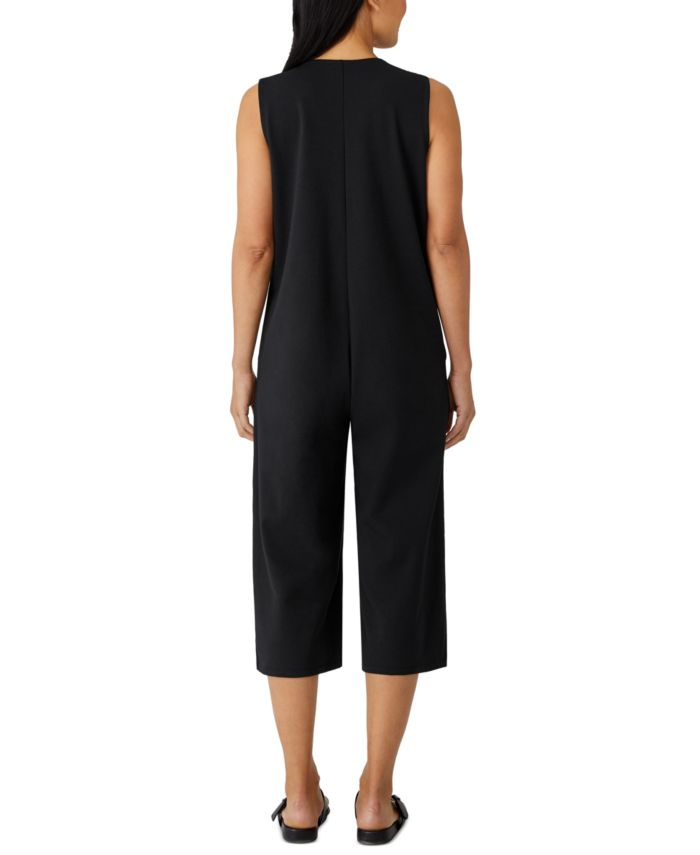 Eileen Fisher Cropped Wide-Leg Jumpsuit & Reviews - Pants & Capris - Women - Macy's