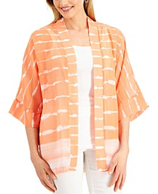 Printed Sheer Jacket, Created for Macy's
