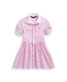 Toddler Girls Striped Shirtdress