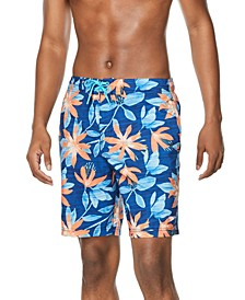 "Men's Palm Spring Bondi Two-Way Stretch UPF 50+ Tie-Dyed Tropical-Print 20"" Board Shorts"