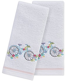 "Spring Bicycle 2-Pc. 11"" x 18"" Fingertip Towel Set, Created for Macy's"