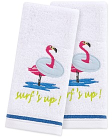 """Surf's Up 2-Pc. 11"""" x 18"""" Fingertip Towel Set, Created for Macy's"""