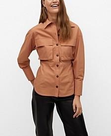 Women's Chest-Pocket Cotton Shirt