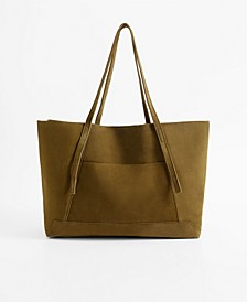 Women's Leather Shopper Tote Bag