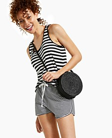 Cotton Striped Racerback Tank, Created for Macy's