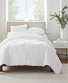 Serta Simply Clean Antimicrobial Pleated Full and Queen Duvet Set,3 Piece