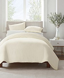 Simply Clean Antimicrobial Full and Queen Duvet Set, 3 Piece