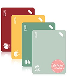 4-Pc. Color-Coded Cutting Board Set