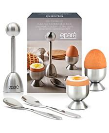 Stainless Steel Egg Topper & Cracker Set for Two