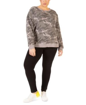 Plus Size Camo-Print Sweatshirt
