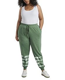Women's Plus Size Striped Tie Dye Pant