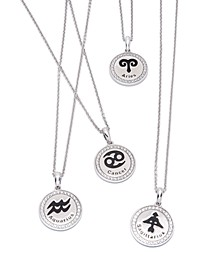 Diamond Zodiac Pendant Necklace Collection (1/10 ct. t.w.) in Sterling Silver