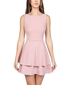 Juniors' Sleeveless Fit & Flare Dress