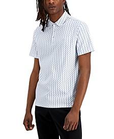 Men's Bowery Classic-Fit Geo-Print Polo Shirt