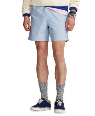 폴로 랄프로렌 Polo Ralph Lauren Mens 6-Inch Polo Prepster Oxford Shorts,Bsr Blue