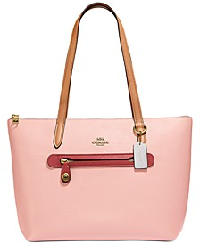 Taylor Tote In Colorblocked Leather