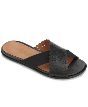 by Kenneth Cole Women's Lark Cross Elastic Scallop Slides Women's Shoes