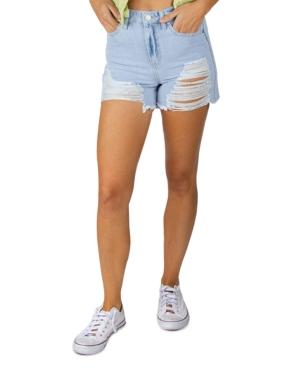 Juniors' Ripped Cutoff Shorts