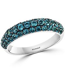 EFFY® London Blue Topaz Three Row Ring (1-3/4 ct. t.w.) in Sterling Silver
