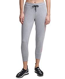 Sport Ombré Logo Cropped Jogger Pants