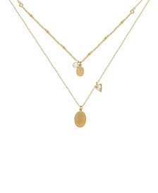 Dainty Double Chain Layering Necklace