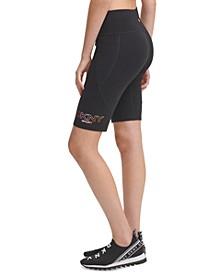 Ombré-Logo Bike Shorts