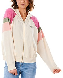 Juniors' Shore Side Zipper Hoodie