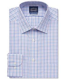 Men's Classic/Regular-Fit Non-Iron Blush Check Stretch-Collar Dress Shirt