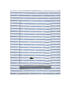 Lacoste Percale Printed Sheet Set