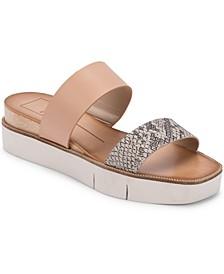 Parni Double-Band Flatform Sandals
