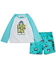 Baby Boys 2-Pc. Shark Swim Set