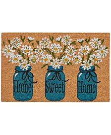 """Casa Bella Mason Jar Floral 18"""" x 28"""" Door Mat"""