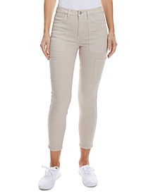 High-Rise Cargo Ankle Skinny Jeans