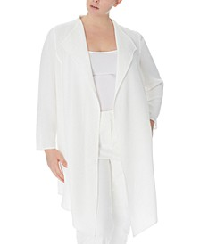 Plus Size Drape-Front Jacket