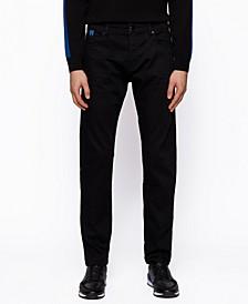 BOSS Men's Black Tapered-Fit Jeans