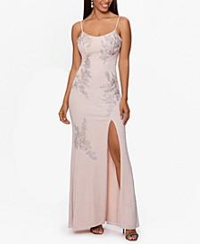 Glitter-Knit Gown
