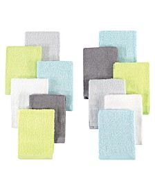 Girls and Boys Woven Washcloths, Set of 12