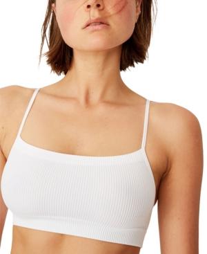 Women's Seamless Straight Neck Crop Bra