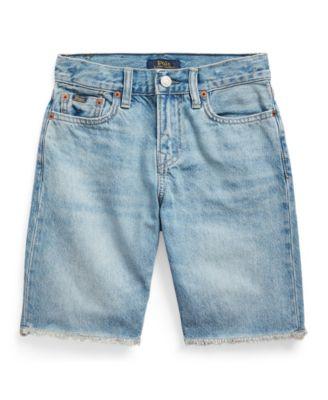 폴로 랄프로렌 Polo Ralph Lauren Big Boys Sullivan Slim Denim Shorts,Blue