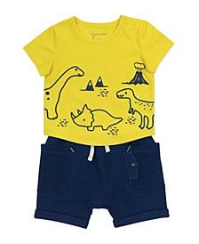 Baby Boys 2 Piece Dinosaur Print Shorts Set