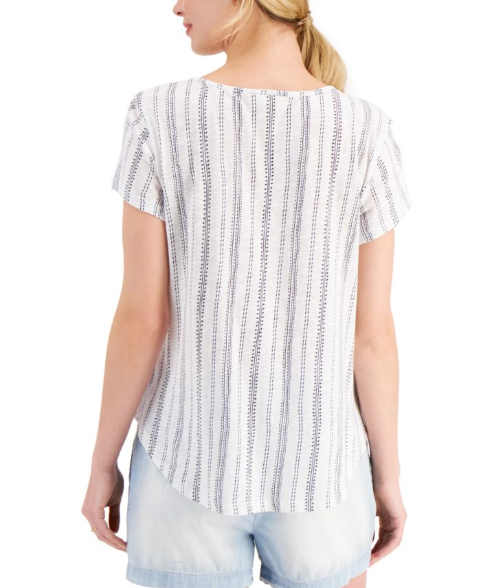 Style & Co Petite Embroidered Top, Created for Macy's & Reviews - Tops - Petites - Macy's