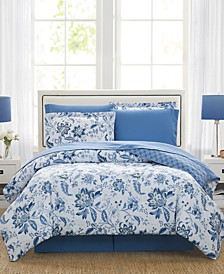 Diana 8-Pc. Reversible Queen Comforter Set, Created for Macy's