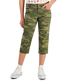 Petite Cropped Camouflage Jeans, Created for Macy's
