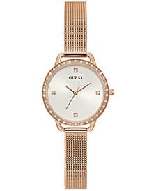 Women's Rose Gold-Tone Mesh Bracelet Watch 30mm